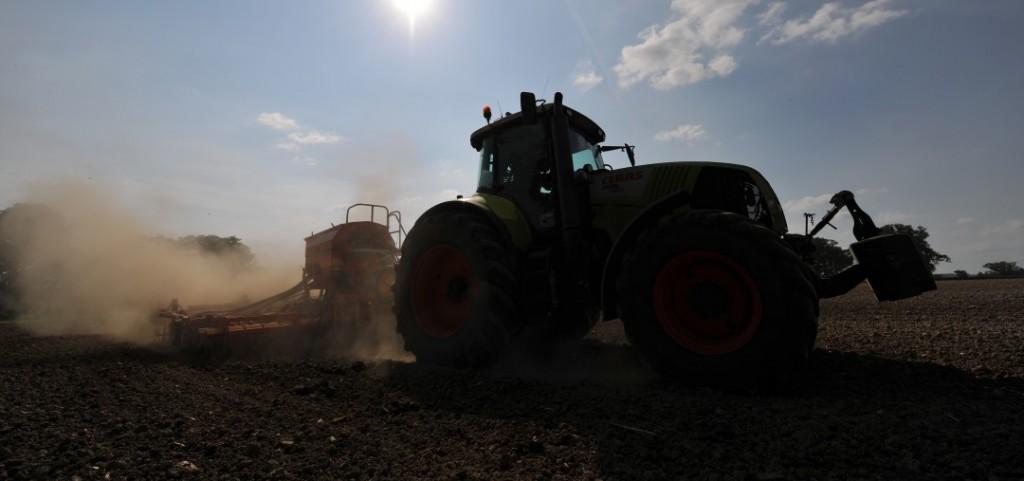 Drilling barley on a warm day