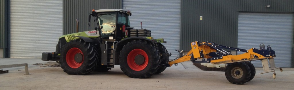 Claas tractor on the farm