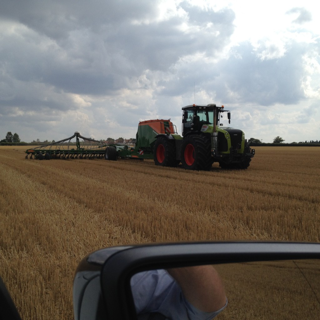 Drilling in the new crop on the Suffolk border